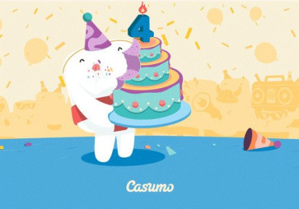 Casumo, one of our best casinos just turned 4