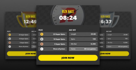 Join the new Rizk casino races and play some top rated slot games!
