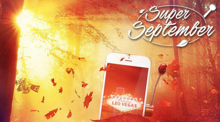 Win up to £50,000 on the Super September promotion on LeoVegas top rated casino!