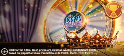 Will you be the King of the Wheel and earn the most points on the live casino tables?