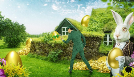 Chocolate eggs are no more, Mr Green is giving away an 18 Karat golden egg this Easter!