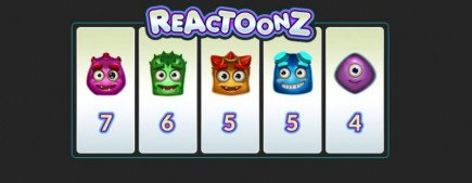 Win £5,000 by playing the new Reactoonz slot game by Play' N Go on Guts top online casino!
