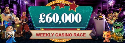 Video slots casino give away £60,000 in weekly casino races