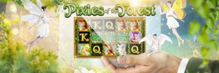 With a sprinkle of magic you could win a share of £310,000 on Pixies of the Forest casino games online!