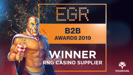 Nitro Circus slot makers Yggdrasil take home the RNG Casino Supplier of the year award!