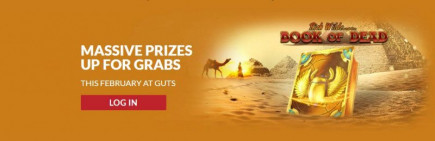 It's the February Frenzy promotion over on Guts with over £50,000 worth of casino bonuses up for grabs!